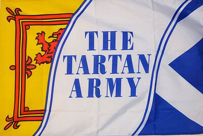 SCOTLAND THE TARTAN ARMY FLAG 3' x 2' St Andrews Lion Rampant Scottish Football