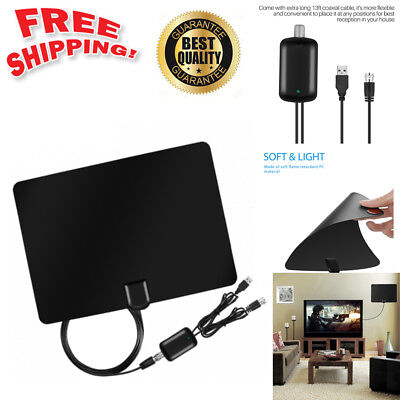 Digital TV Amplified Antenna HDTV 1080P 50Miles Range TVFox Style VHF UHF DVB
