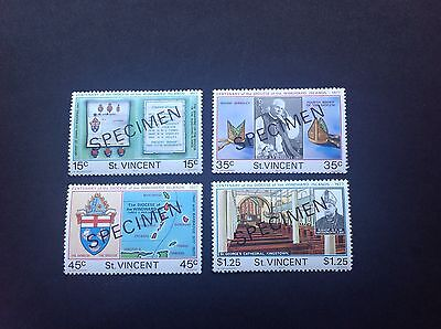 St Vincent 1977 Specimen Overprint Windward Islands Set Of 4 MNH