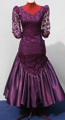 VINTAGE 80S PROM DRESS, Purple COCKTAIL PARTY Hens Night  8-10 DRESS UP, SAVE!