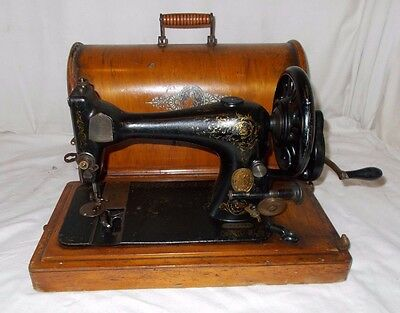 ANTIQUE Singer SEWING Machine 1889 MANUAL Hand Crank In Case VICTORIAN