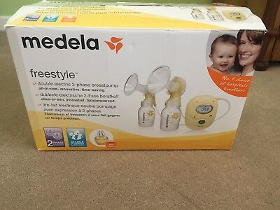 Medela Freestyle Double Electric Breast Pump with lot of extras