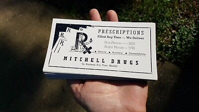 Lot of 30 Old Antique Vtg Mitchell Drugs Store Camilla Georgia Ga Ink Blotters