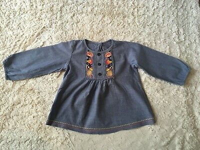 M&S Girls 9-12 Months Floaty Blouse Top
