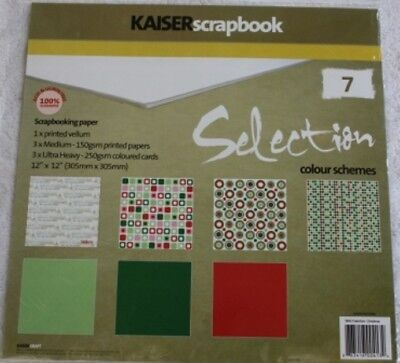 Kaiser scrapbook Selection Christmas 12x12 Paper Pack