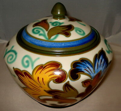Royal Gouda Holland Plazuid Rare Lidded Tobacco Jar