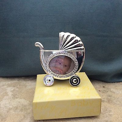 Silver Baby Carriage Picture Frame