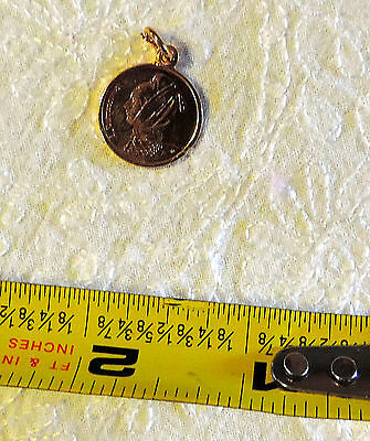 Gold Plated Greek 1 Drachma Coin with pendant clasp