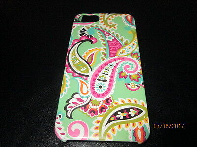 VERA BRADLEY Green & Pink Paisley Hard Plastic Cell Phone Case