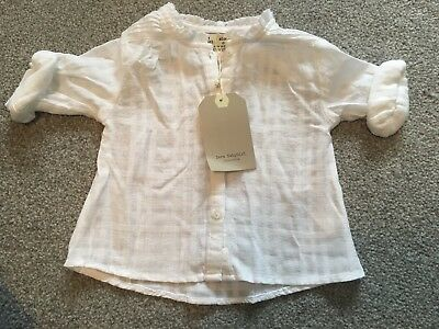 Girl's White Shirt Blouse From Zara 6-9 Months  Brand New with tags