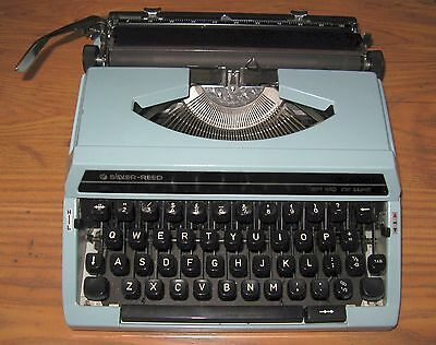 Silver-Reed Portable Typewriter SR180 DE LUXE in excellent working order