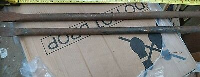 Two Heavy Duty Pry Bar Steel Crow Wrecking
