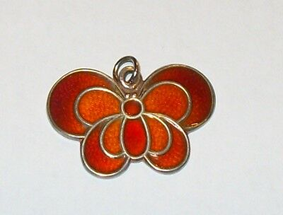 David Andersen Schmetterling Butterfly Silber 925 Emaille Norway Sterling Design