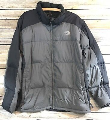 THE NORTH FACE Charcoal Black 550 DOWN PUFFER JACKET Mid-weight Men's XXL 2XL