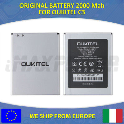 BATTERIA BATTERY ORIGINALE 2000 Mah OUKITEL C3