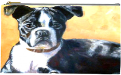 Boston Terrier Accessory Bag, Double-Sided Photos!