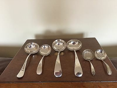 Lovely Selection Of Six (6) Various Lovely Silver Plated Ladles