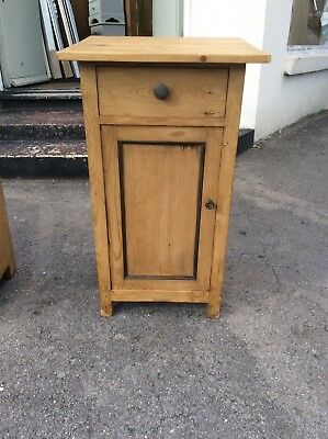 Antique Pine Pot Cupboard/ Bedside Cabinet (B)
