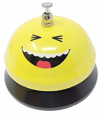 Laughing Smiley Face Emoji Service Bell~New~Free Shipping