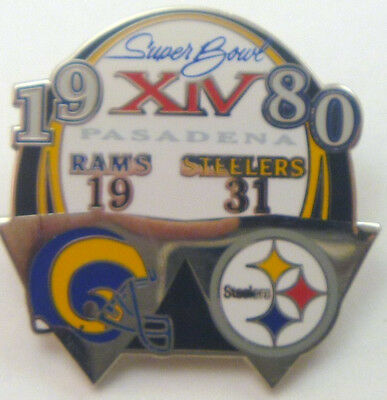 Pittsburgh Steelers LE Super Bowl XIV 14 Champions Pin - vs Los Angeles Rams