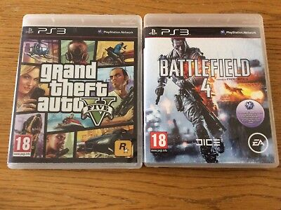 PS3 Grand Theft Auto 5 & Battlefield 4 Games