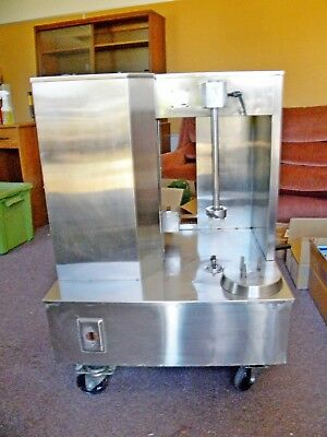 Commercial Spiral Ham Slicer, Used, Stainless Steel Manual Operation