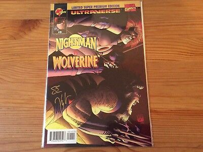 Marvel Nightman Vs Wolverine # 0 1995 Signed COA NM DF Sealed