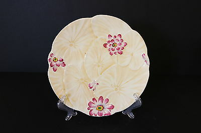 Royal Winton Grimwades Regina Plate Yellow With Pink Flowers Vintage