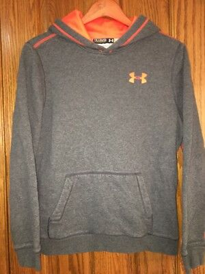UNDER ARMOUR Gray Loose Hooded Sweatshirt/Hoodie Youth/Boys Size YXL