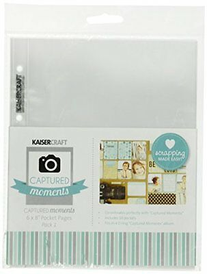 Kaiser Craft 6 x 8-Inch Pocket Pages Pack 1