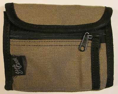 Eagle Creek Wallet Men Women Unisex Khaki / Black ID Slot Lots of Storage