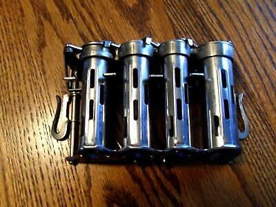 VINTAGE HIGH SPEED 4 TUBE Mc GILL COIN CHANGER  WITH BELT CLIPS U.S.A.