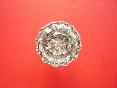(6) Mached Pattern  Set 12 Point Glass Crystal Door Knobs Nice Lot