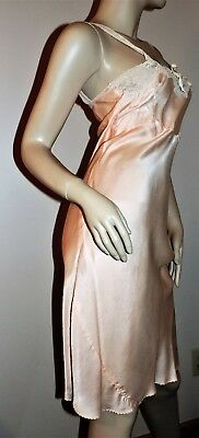 Vintage 1940s Full Slip SALE EVERY STYLE EVERY SIZE Pure Silk Bias Cut Peach Sm