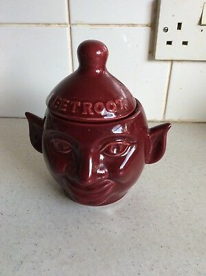 Vintage Beetroot Pot With Lid Possibly Sylvac