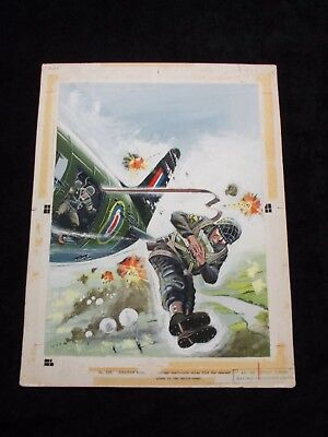 original comic watercolour artwork by alan willow for air ace picture library