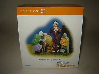 Dept 56 SV Halloween - How About Our Lay-Away Plan - NIB