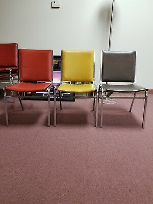 Chairs vinyl multi color- buy the lot of 36 at a reduced price