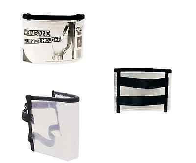 Dog Show Exhibitor Ring Number Holder Armband / Arm Band Black