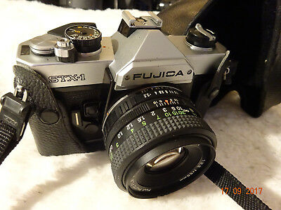 Fujifilm Fujica STX-1 35mm SLR Film Camera with 55mm f2.2  Lens + case student