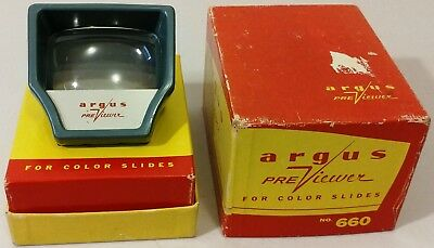 Vintage - Argus - Model 660 - Slide Pre Viewer, In Box - Great UN-Tested - READ