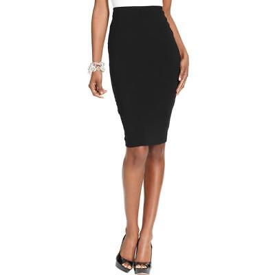 Vince Camuto 8036 Womens Black Jersey Midi Below Knee Pencil Skirt S BHFO