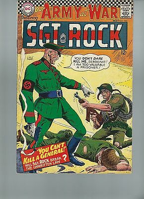 Our Army at War #180 VF- 7.5 Sgt. Rock & Easy Company 1967 Joe Kubert Art