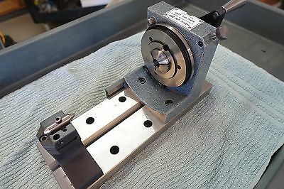Harig Uni-Dex 5C Indexing Fixture With Baseplate, Tailstock, 3-Jaw Chuck + Xtras