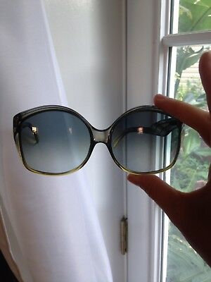 Christian Dior vintage GREEN BLUE women's oversized sunglasses Made in Germany
