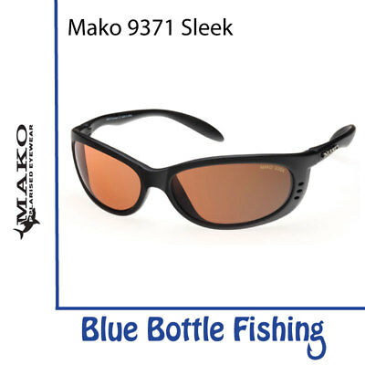 Mako Sleek 9371 Matte Black. Glass Copper Photochromic Lens M01-G3SX