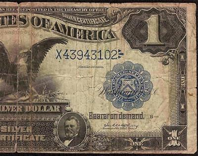 Large 1899 $1 Dollar Bill Big Silver Certificate Black Eagle Note Currency F 229