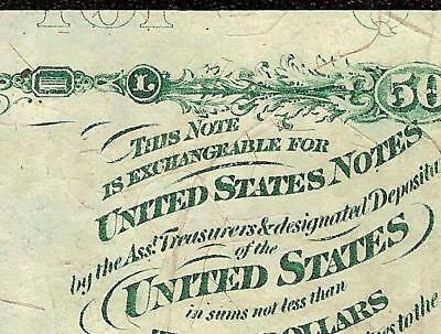 ERROR 50 CENT FRACTIONAL UNITED STATES CURRENCY STANTON NOTE PAPER MONEY Fr 1376