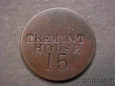 Vintage Tremont House Counterstamp On 1867 US 2¢ Two Cent Piece Coin