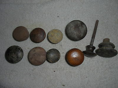 Antique vintage Victorian wood drawer pull knobs lot of 10 lot #D4